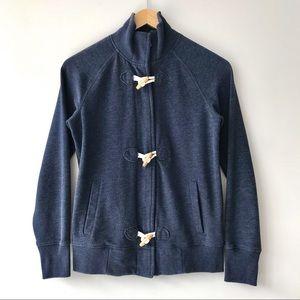 Old Navy Plush Fleece Zip & Toggle Cardigan Blue
